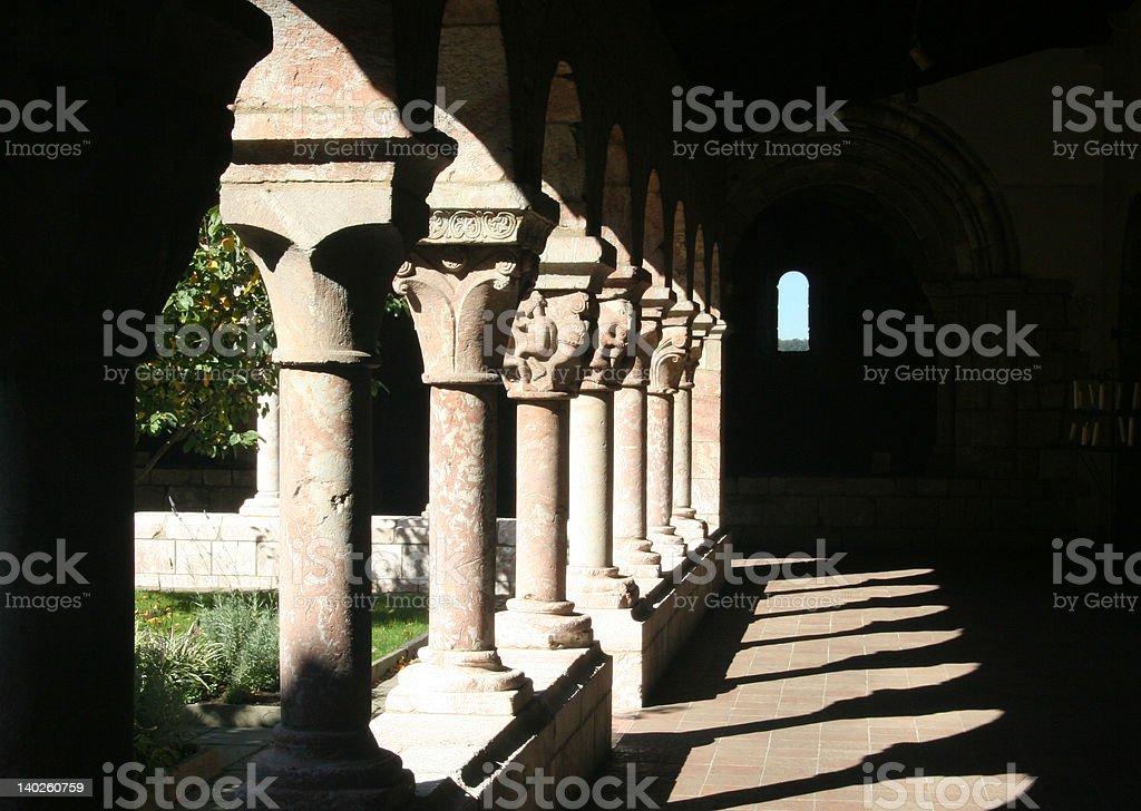 Shadow Colums stock photo