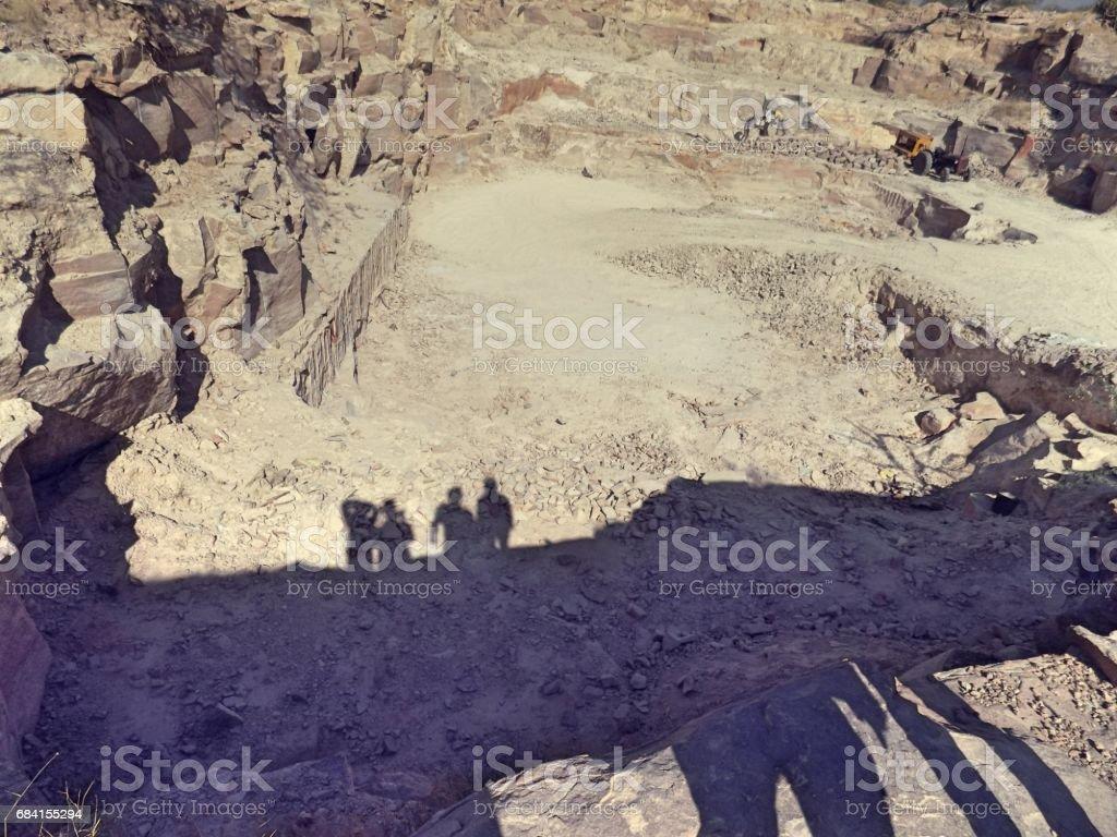 Shadow down the Mine zbiór zdjęć royalty-free