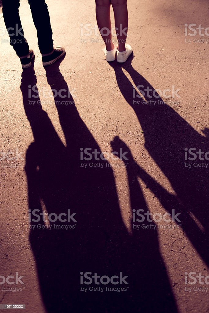 shadow hand stock photo