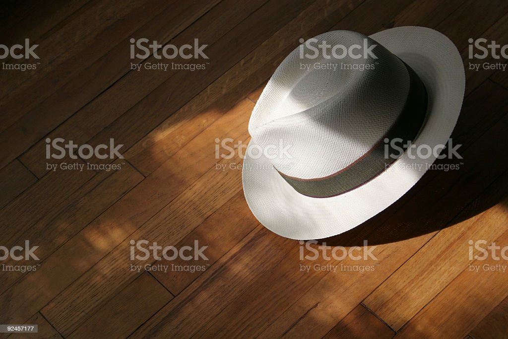 shadow hat stock photo