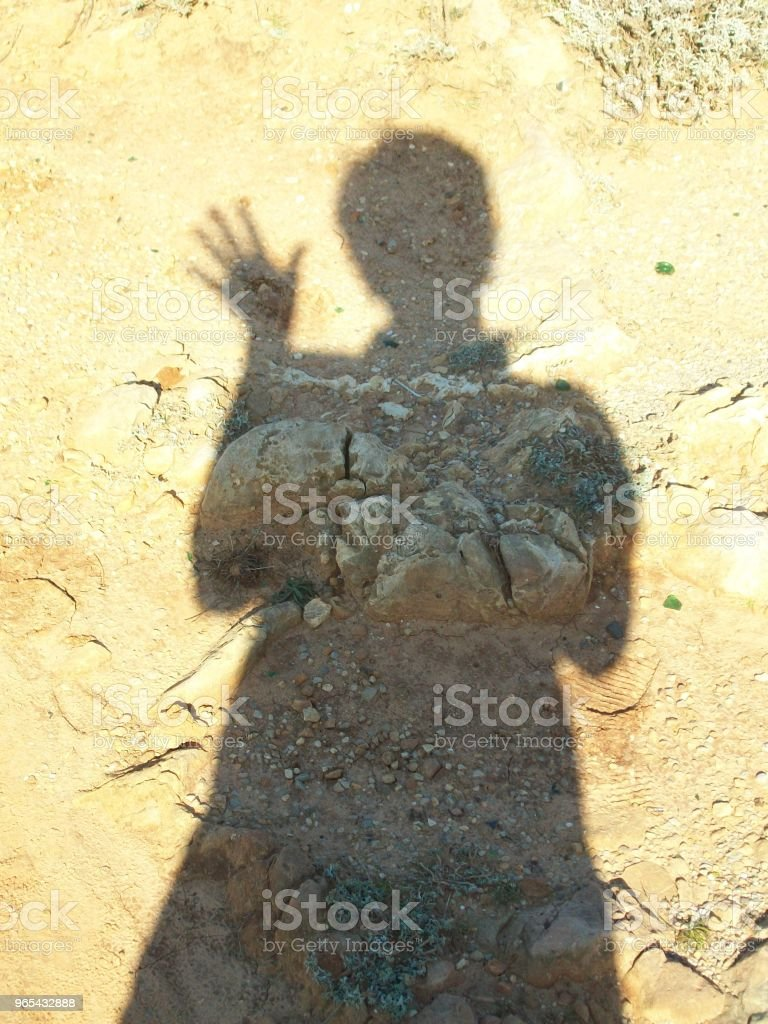 Shadow hello royalty-free stock photo