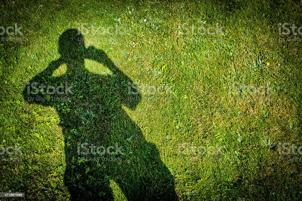 Shadow Looking Out royalty-free stock photo