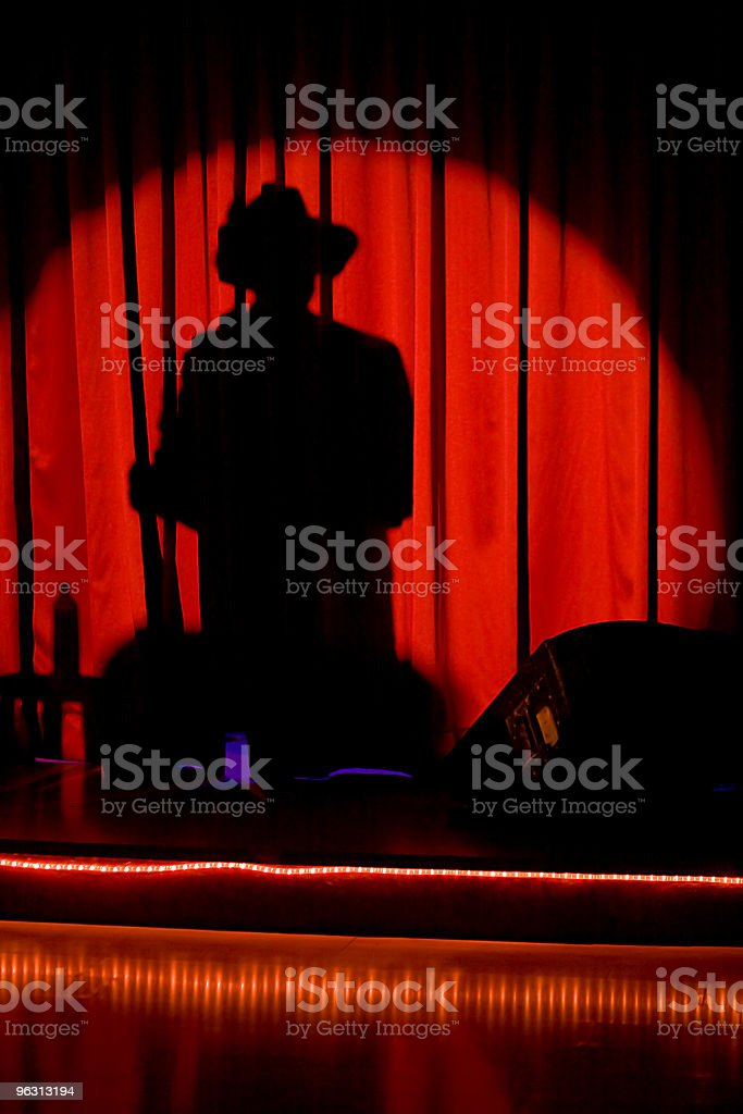 Shadow man (XL) stock photo