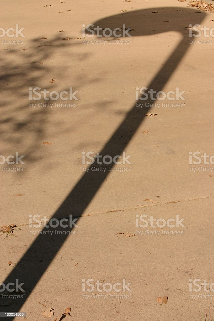 Shadow of a Basketball Hoop royalty-free stock photo