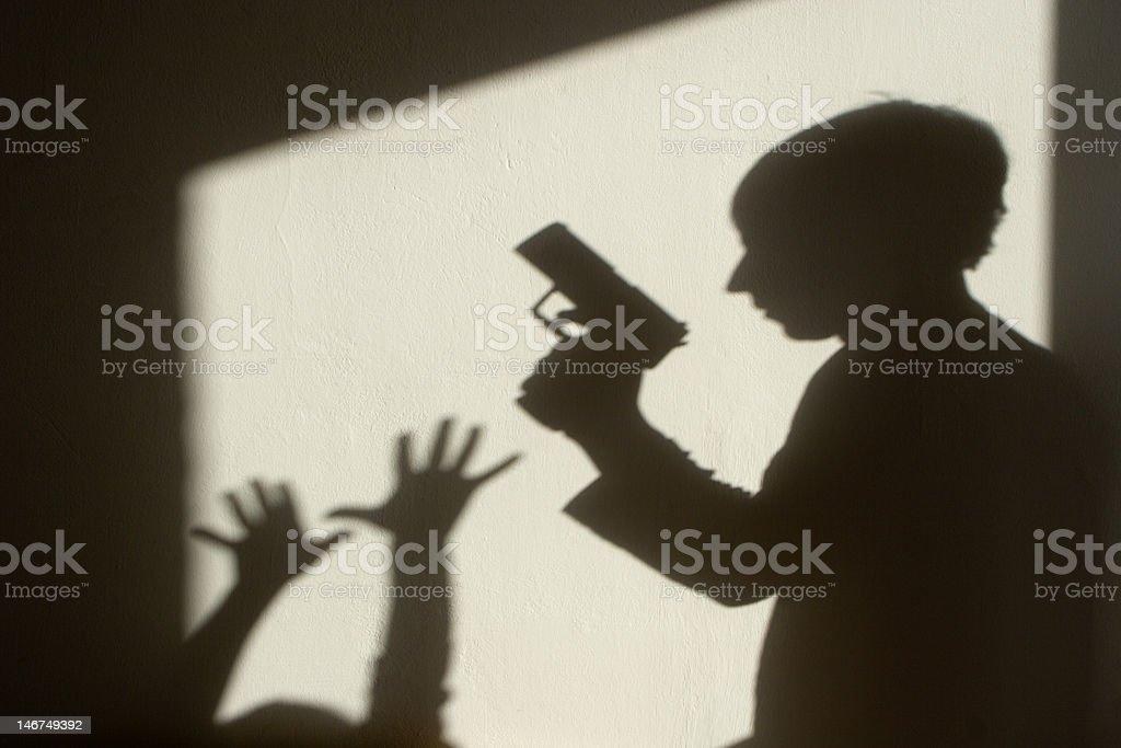 shadow of crime stock photo