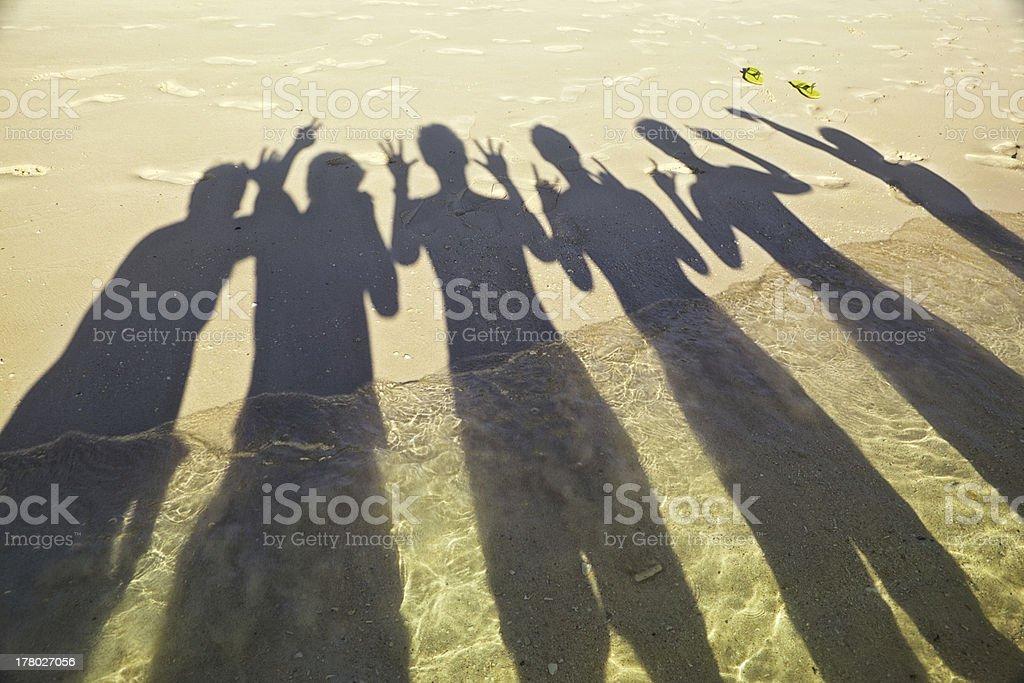 Shadow on beach royalty-free stock photo