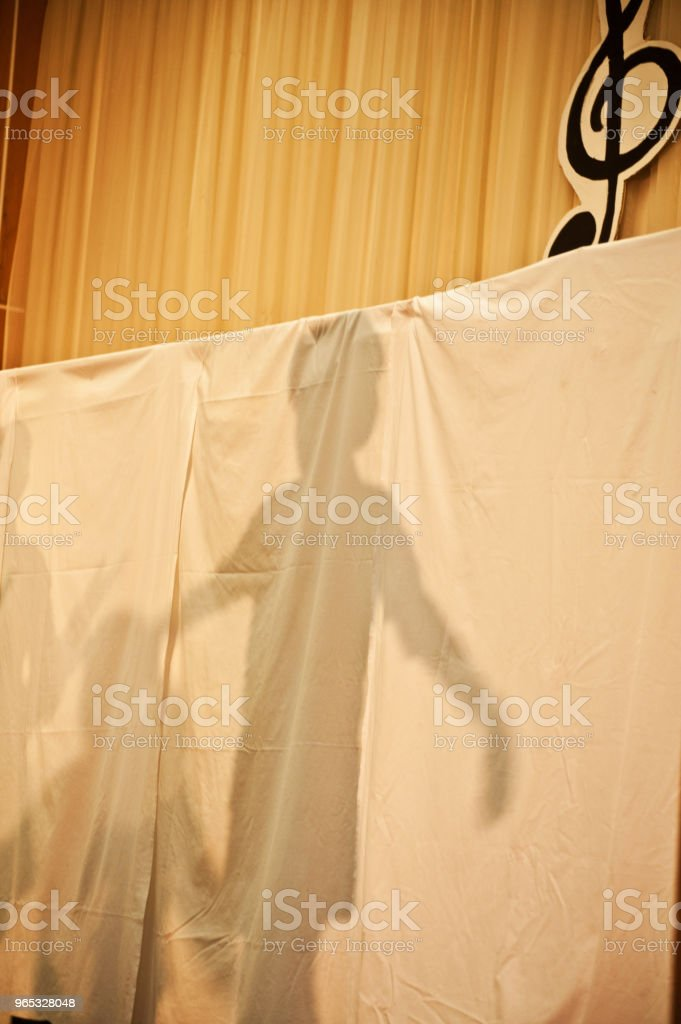 Shadow On Stage royalty-free stock photo