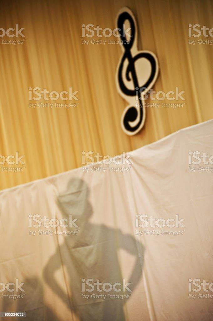 Ombre sur scène - Photo de Acteur libre de droits