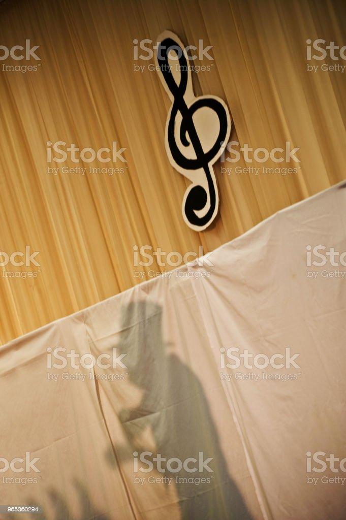 무대에 그림자 - 로열티 프리 Performing Arts Event 스톡 사진