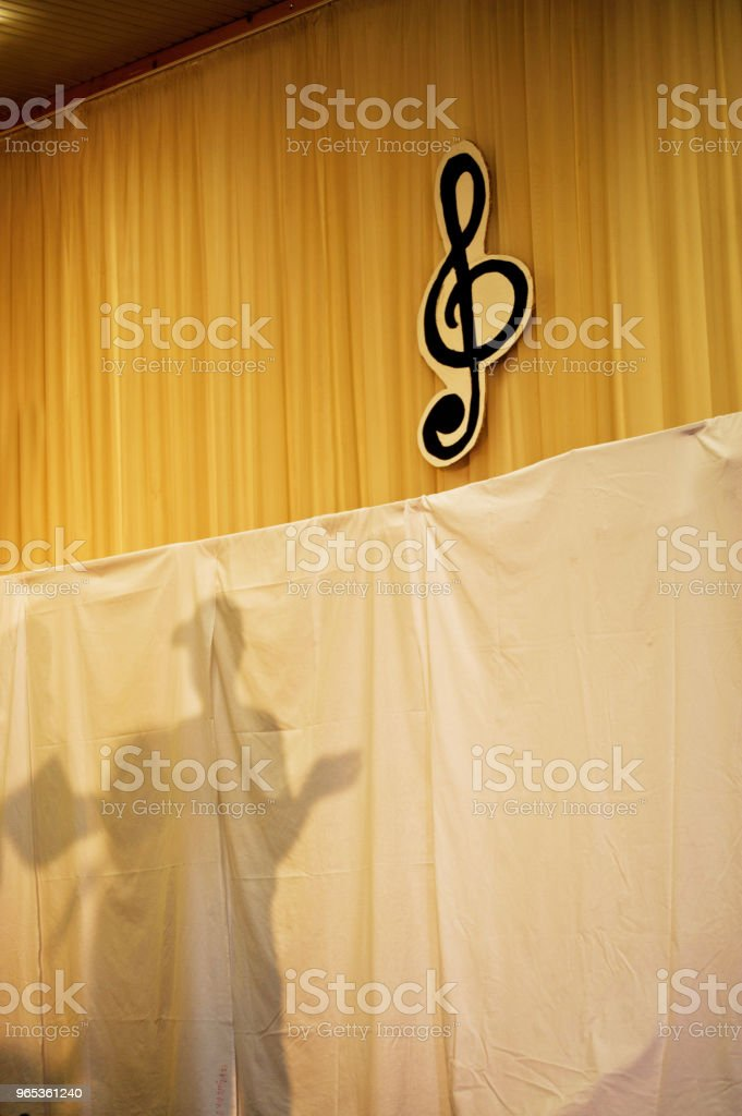 Shadow On Stage stock photo