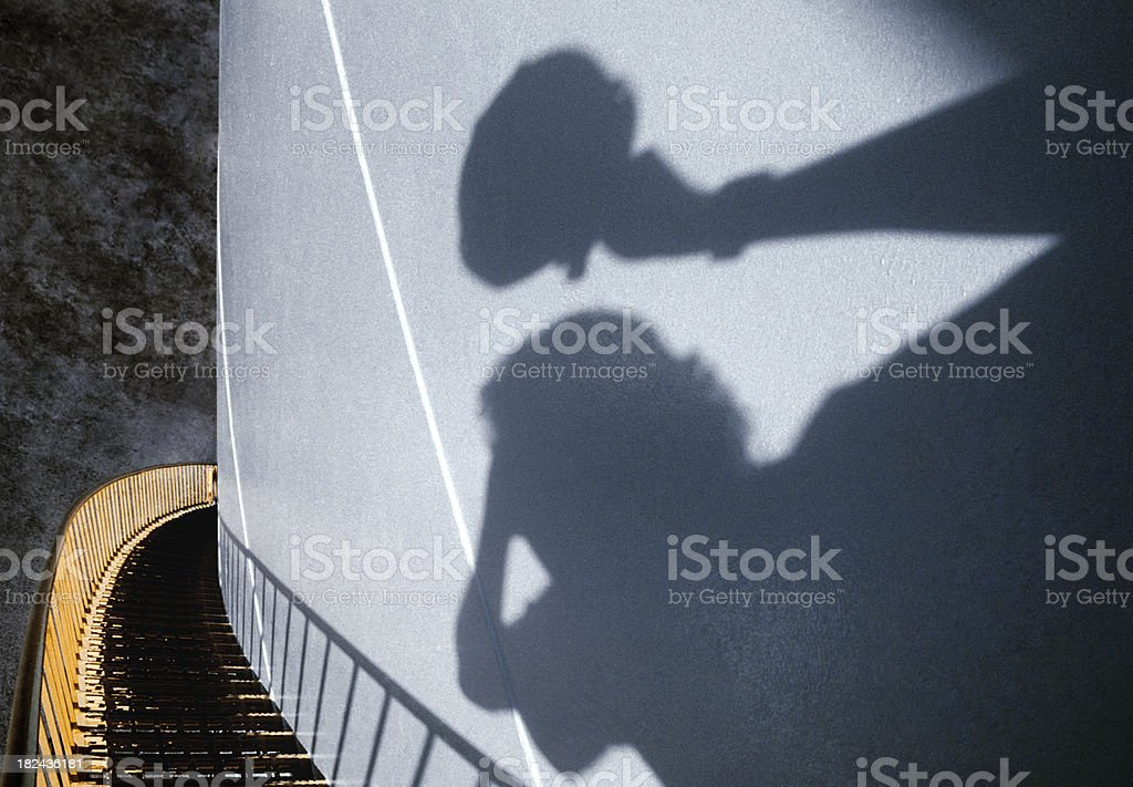 shadow on the heights royalty-free stock photo