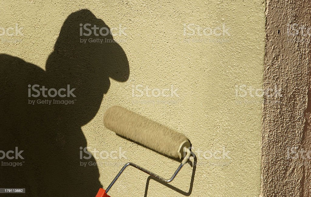 Shadow Painting royalty-free stock photo