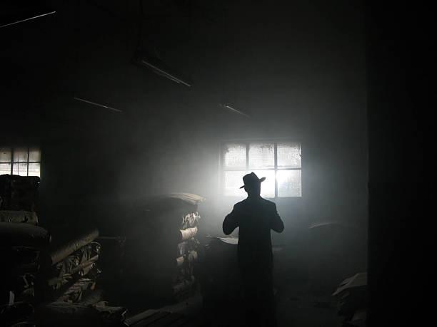 sombra - homem chapéu imagens e fotografias de stock