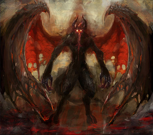 shadow - demon stock photos and pictures