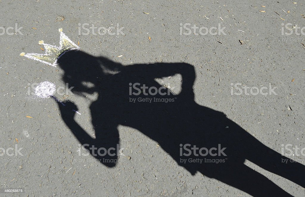shadow princess stock photo