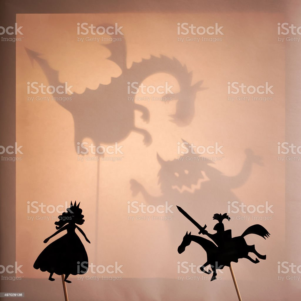 Shadow Puppets stock photo