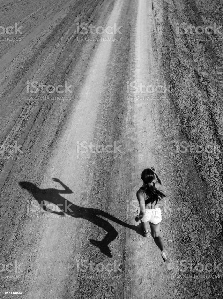Shadow Runner royalty-free stock photo