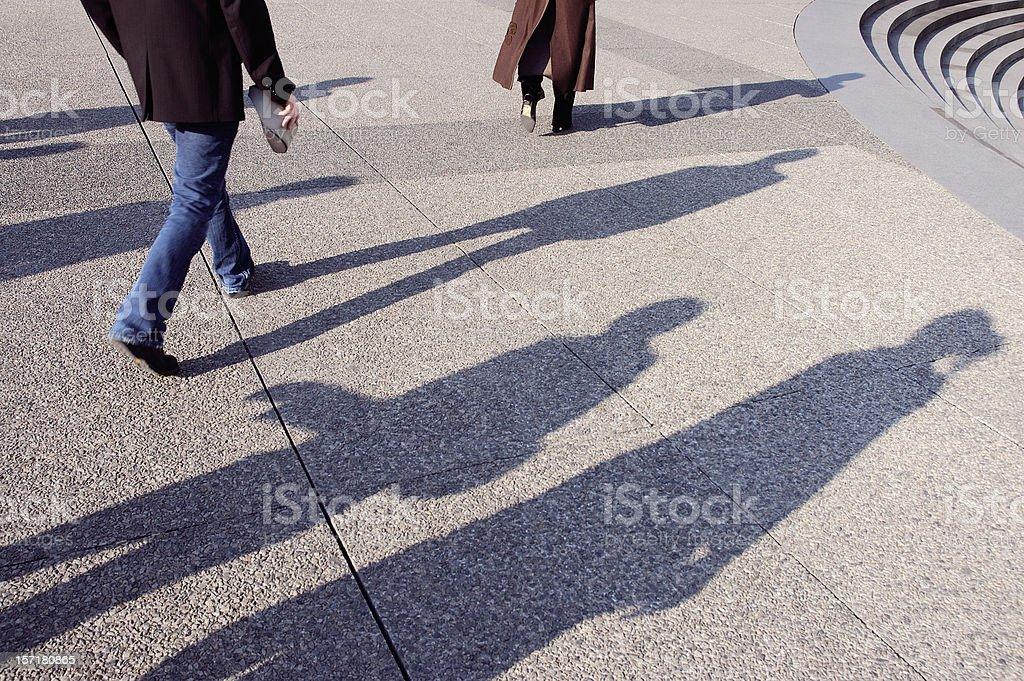 Shadowplay royalty-free stock photo