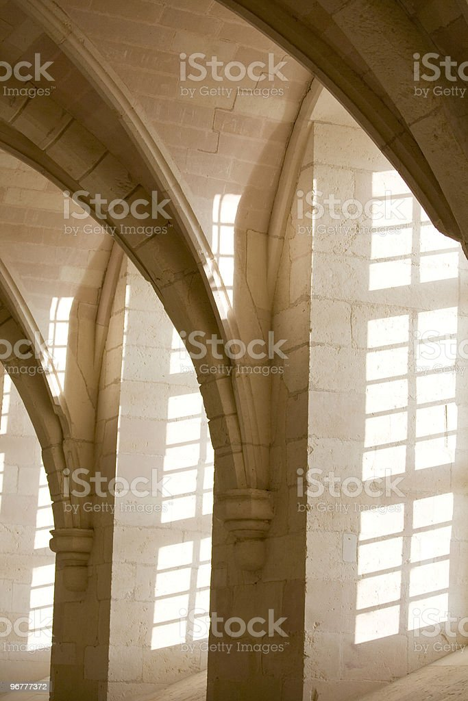 Shadows and light; arches royalty-free stock photo
