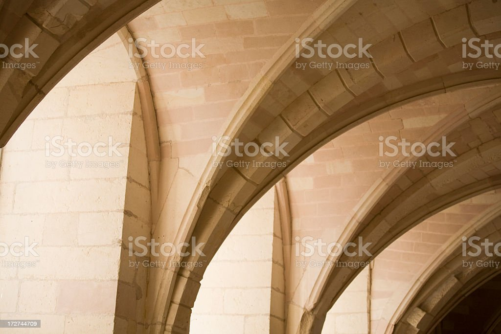 Shadows and light playing on the arches royalty-free stock photo