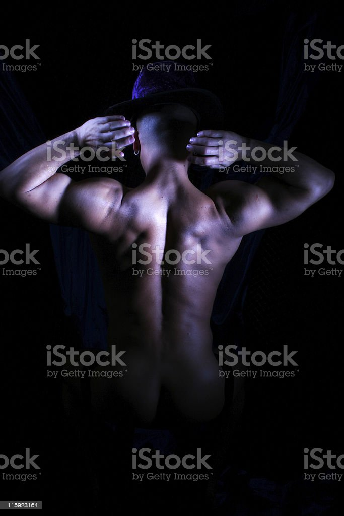 Shadows and Muscles royalty-free stock photo