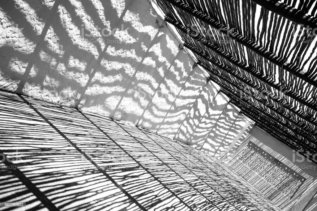 Shadows black and white stock photo