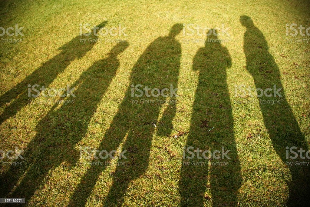 Shadows of Friends royalty-free stock photo