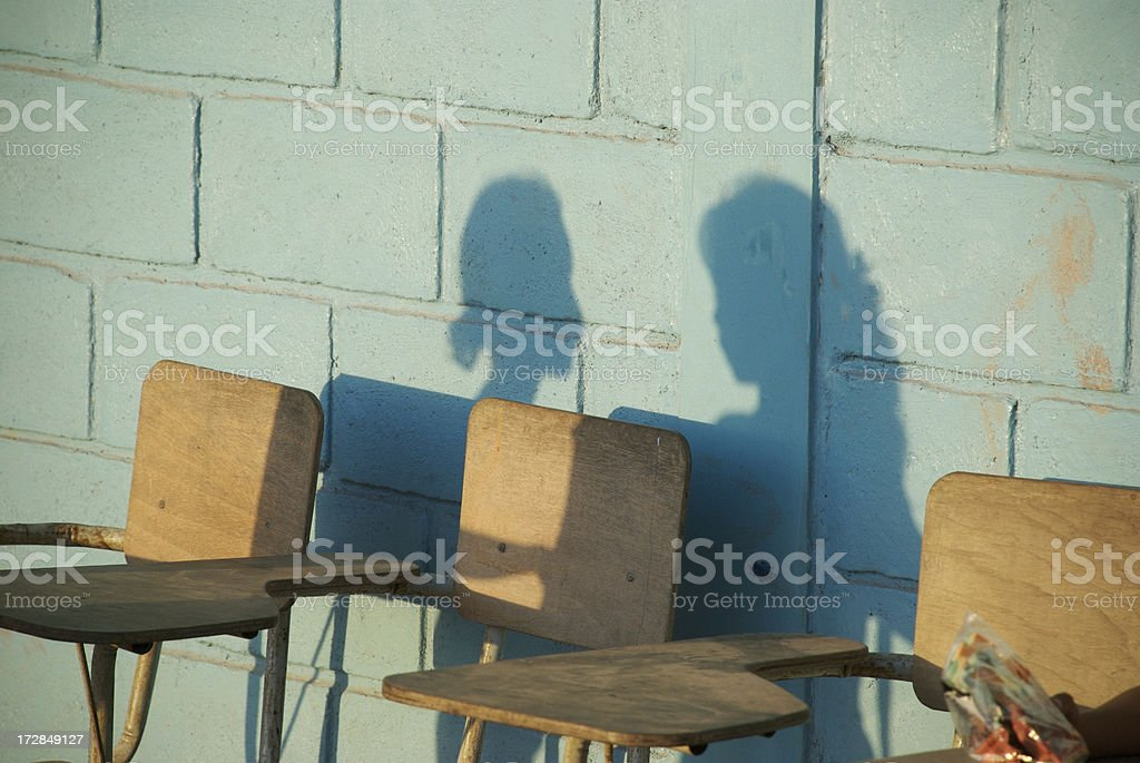 Shadows Of Poor Students royalty-free stock photo
