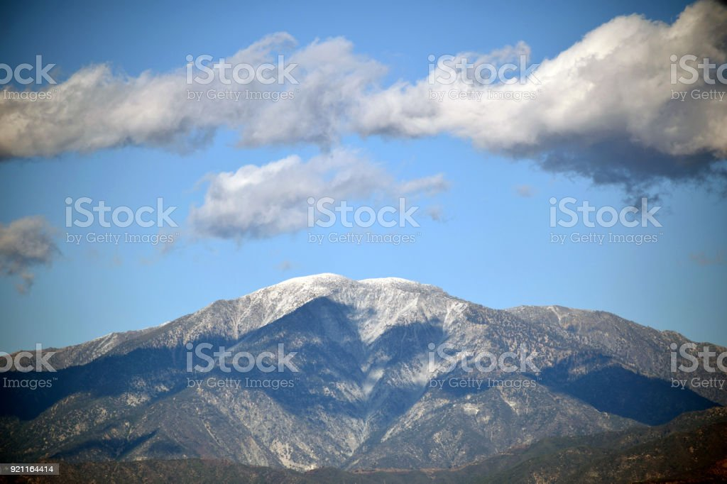 Shadows on Mount Baldy stock photo