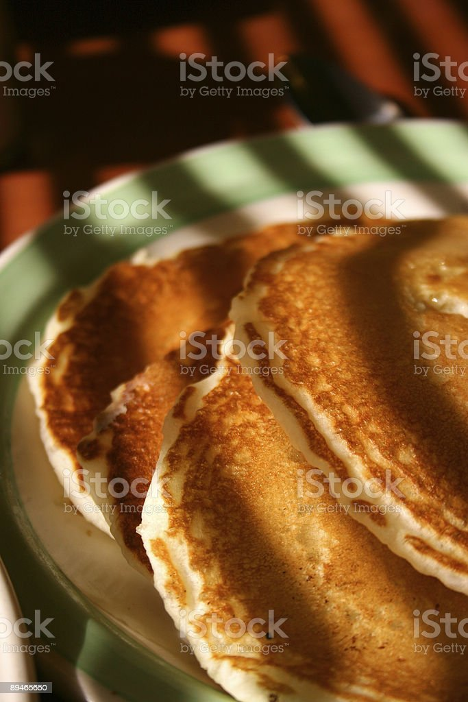 Shadows on my Pancakes royalty-free stock photo