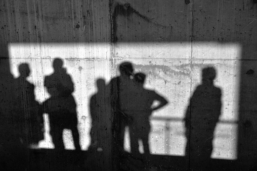 Shadows On The Concrete Wall
