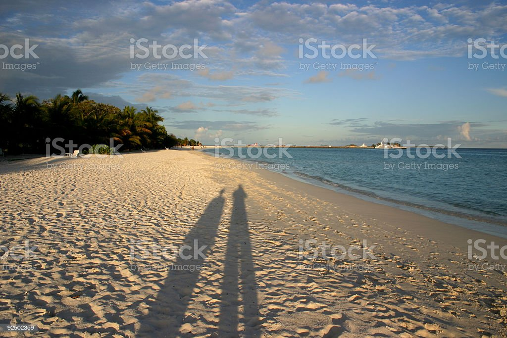 shadows on the sand royalty-free stock photo