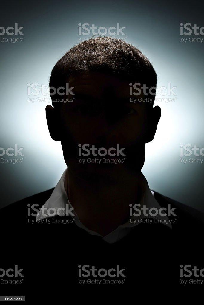 Silhouette eines Mannes – Foto