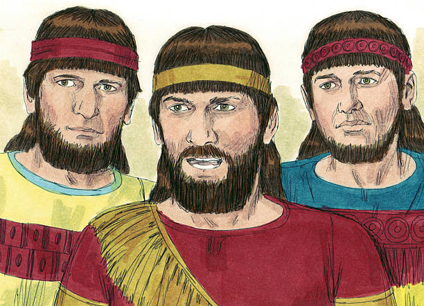 Shadrach, Meshach, and Abednego stock photo