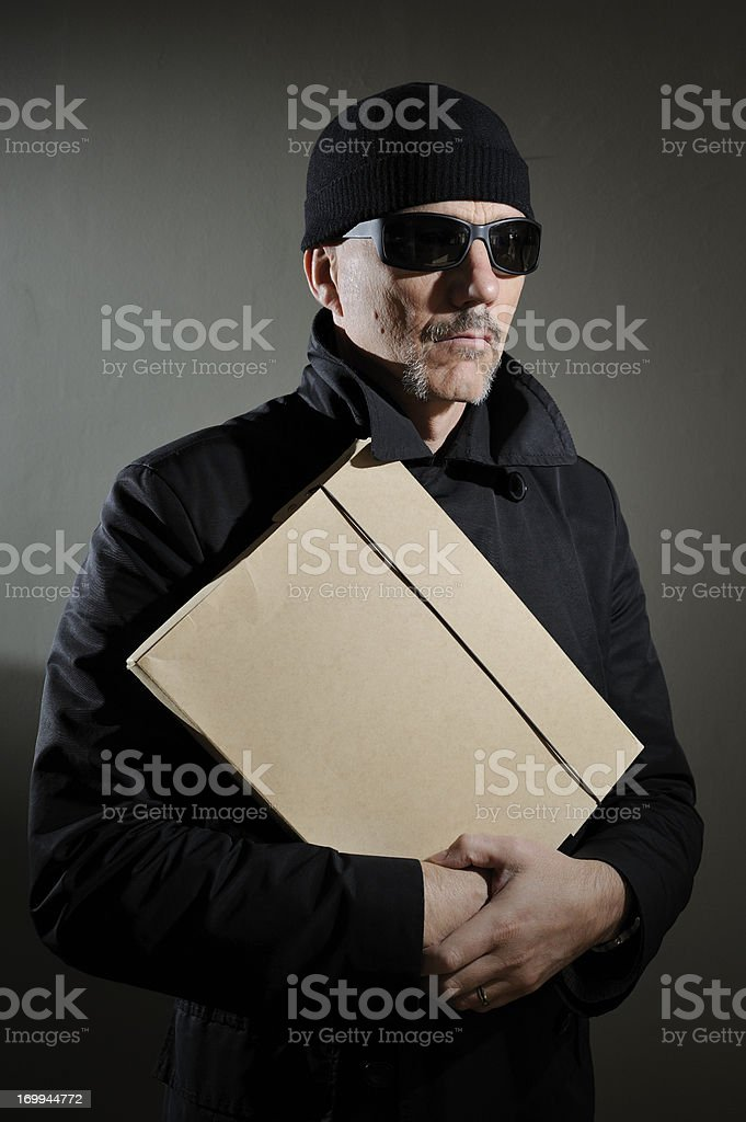 Shady Character With Secrets royalty-free stock photo