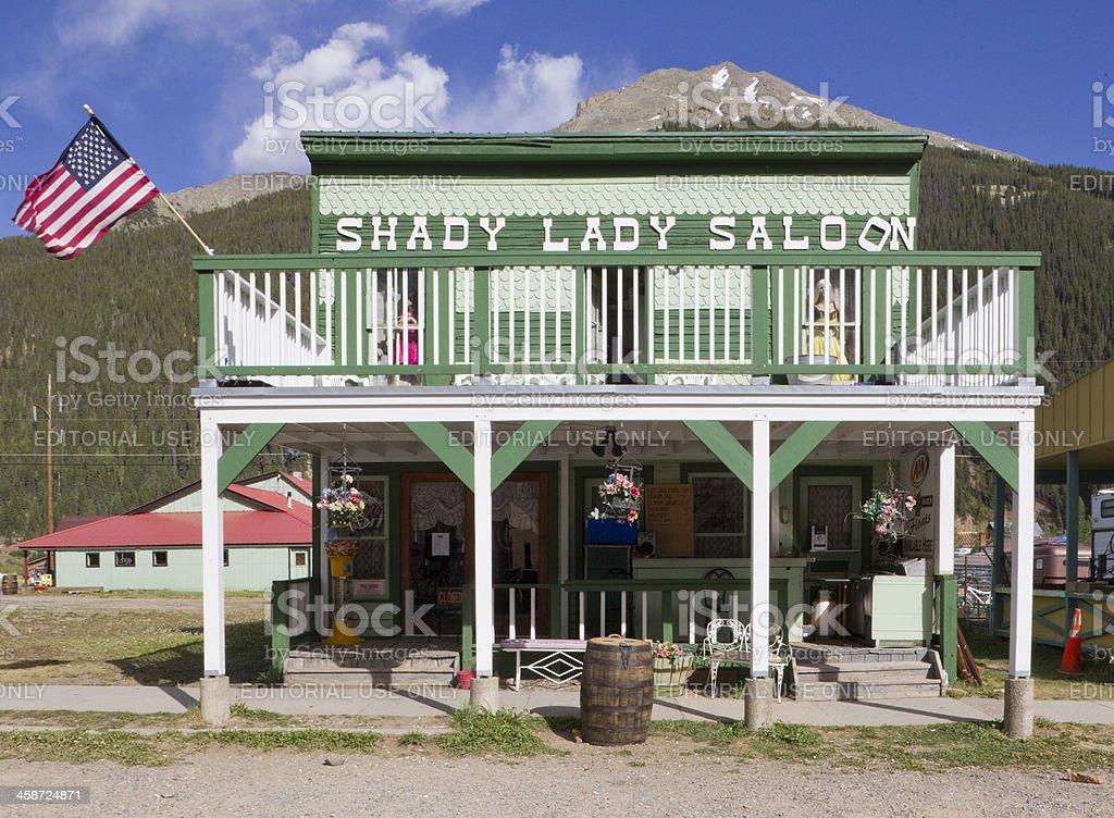 Shady Lady Saloon - Silverton, Colorado stock photo