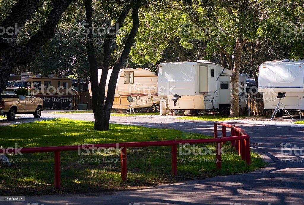 Shady RV Park royalty-free stock photo