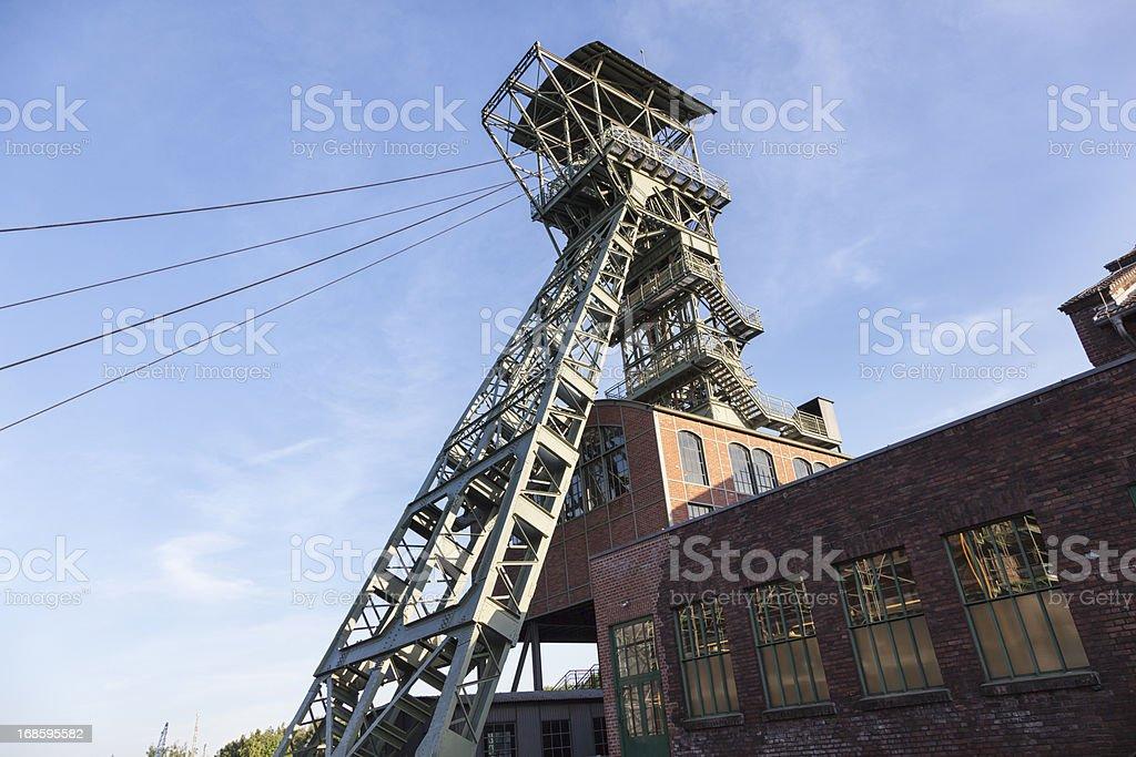 shaft tower at Zeche Zollern stock photo