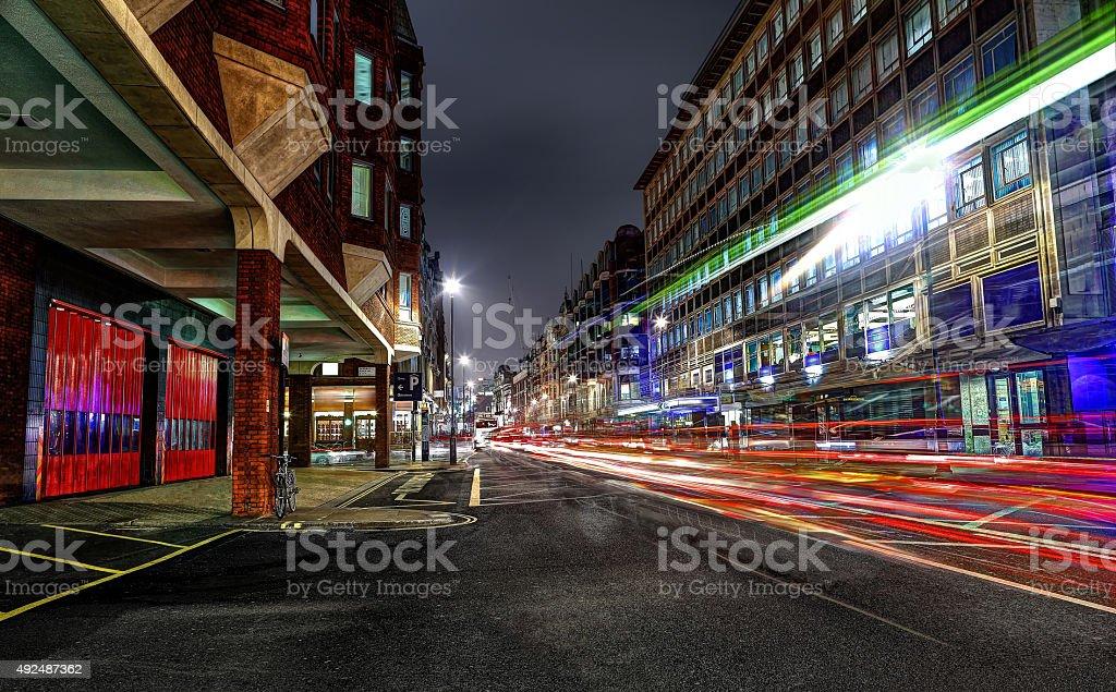 Shaftesbury Avenue at Night stock photo