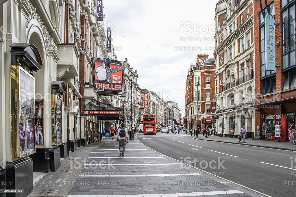 Shaftesbury Avenue, London West End. stock photo