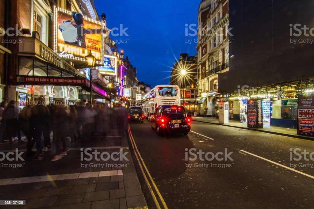 Shaftesbury Avenue London West End stock photo