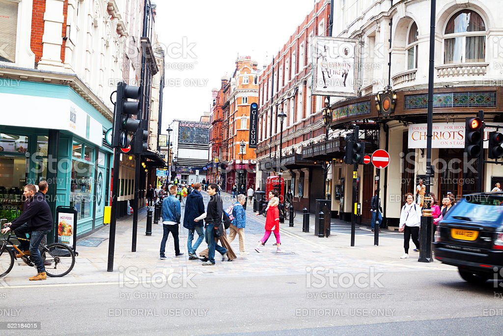 Shaftsbury Avenue and Rupert Street in London stock photo