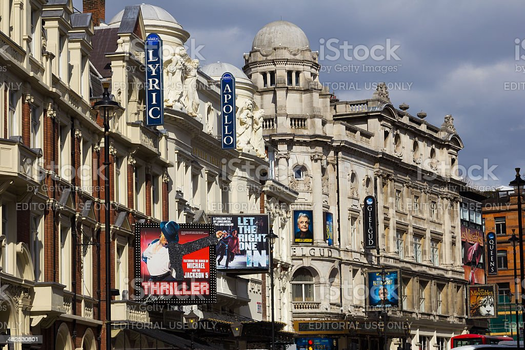 Shaftsbury Avenue during the day stock photo