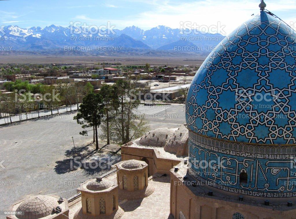 Shah Nematollah Vali Shrine in Mahan, Iran stock photo