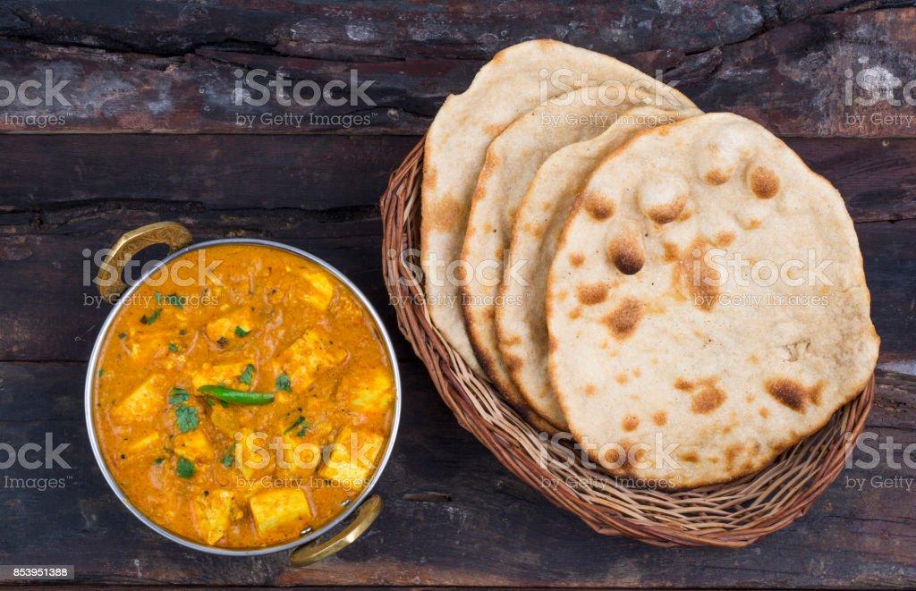 Shahi Paneer or Paneer Kadai stock photo