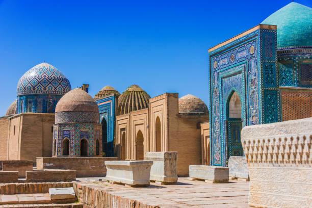 Shah-i-Zinda, eine Nekropole in Samarkand, Usbekistan – Foto