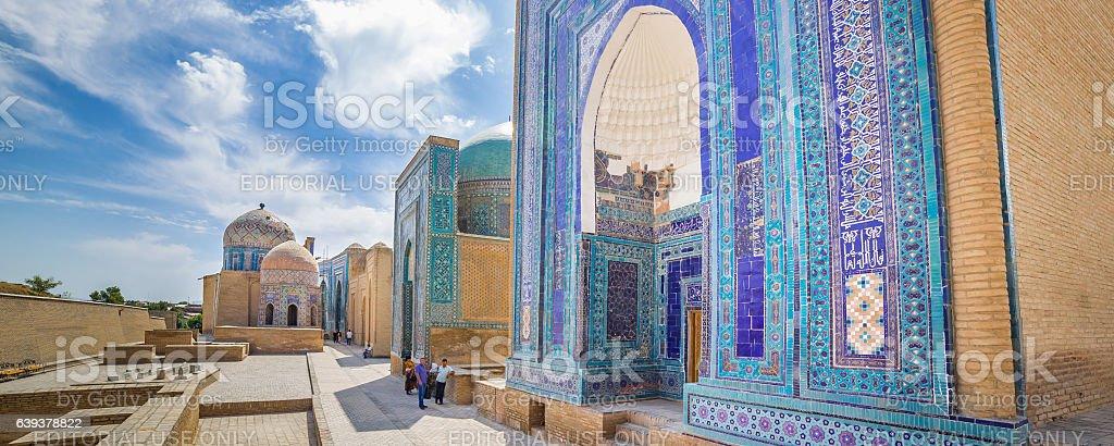Shah-i-Zinda, avenue of mausoleums in Samarkand, Uzbekistan stock photo
