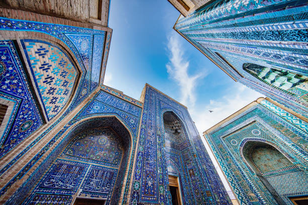 Shah-i-Zinda Mausoleum Samarkand Uzbekistan Shohizinda Necropolis stock photo