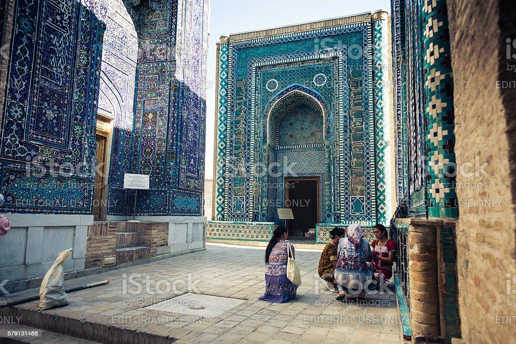 Shah-i-Zinda necropolis, Samarkand, Uzbekistan stock photo