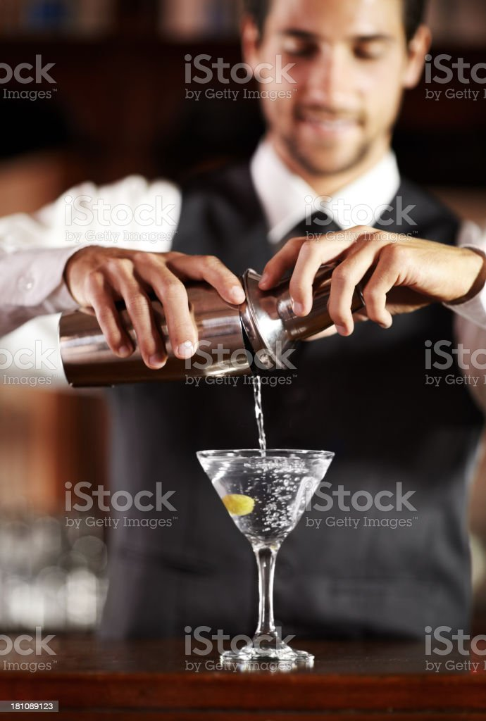 Shaken not stirred... stock photo